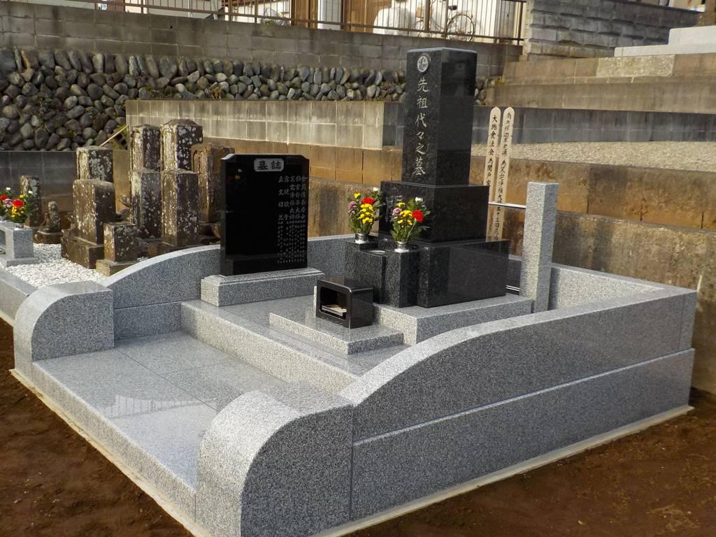 S家墓地工事 完成1