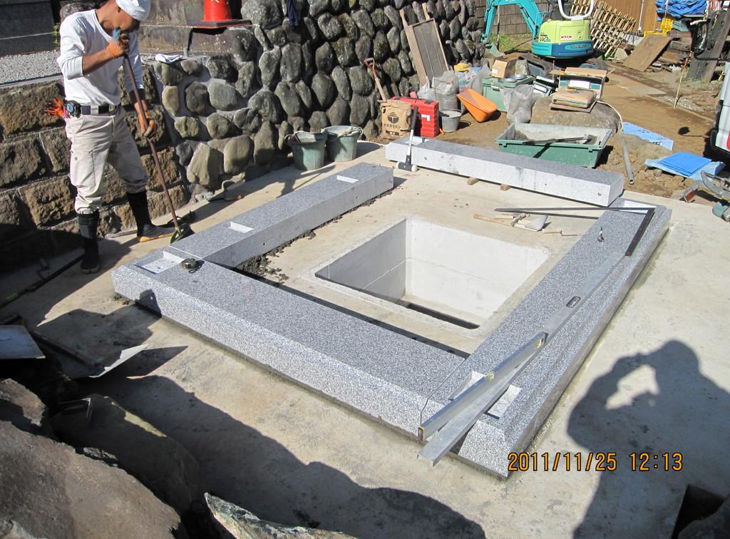 石碑・合同供養塔建設工事1