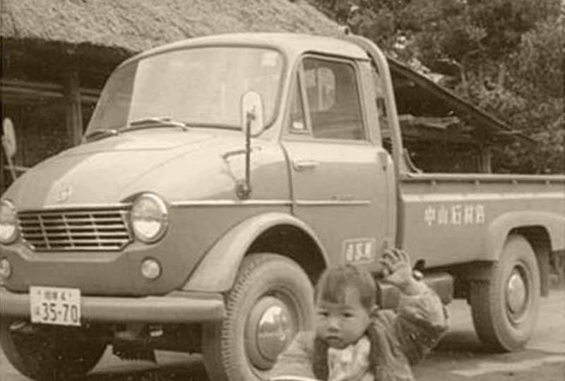 昭和41年 社用車と後の四代目